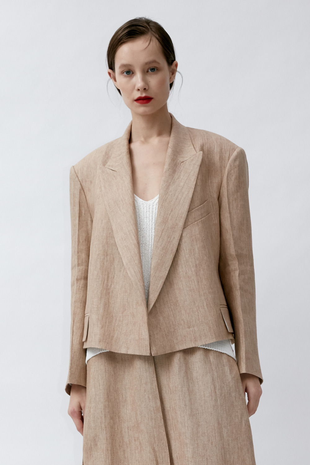 Jacket Crop Beige