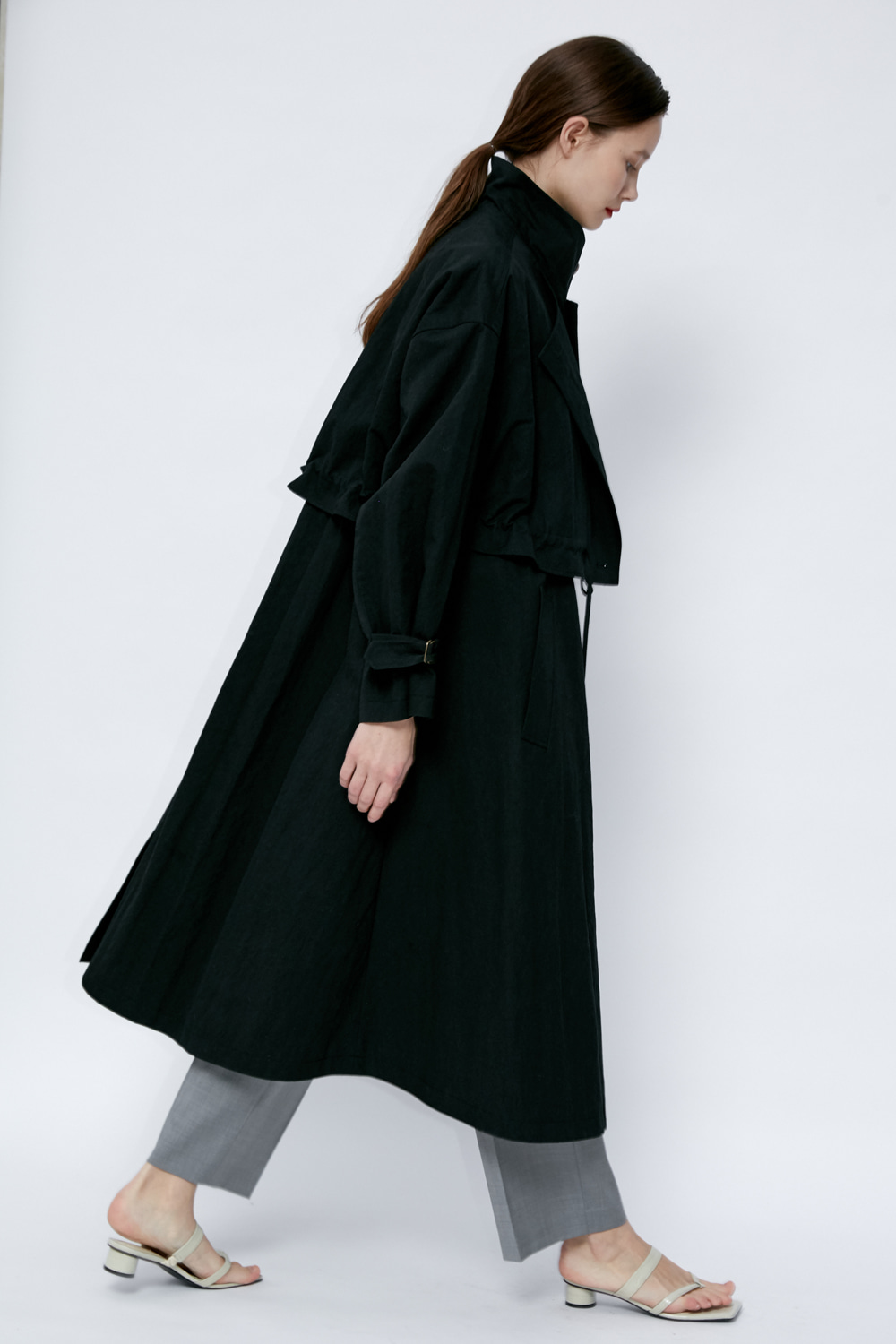 SOLD OUT *** Trench T Asymmetric Balck